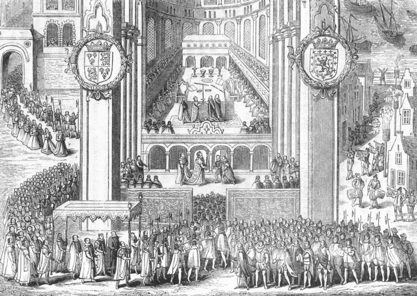 Associate Product ROYALTY. Coronation of James I 1845 old antique vintage print picture