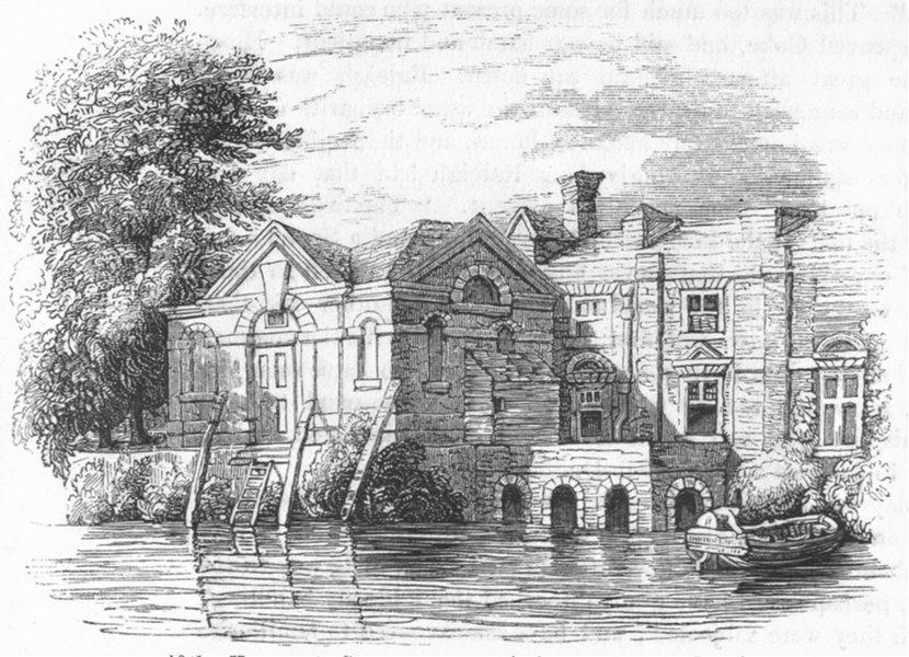 Associate Product LONDON. Conspirators, Lambeth  1845 old antique vintage print picture