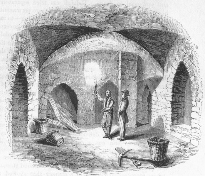 Associate Product LONDON. Vault below House of Lords  1845 old antique vintage print picture