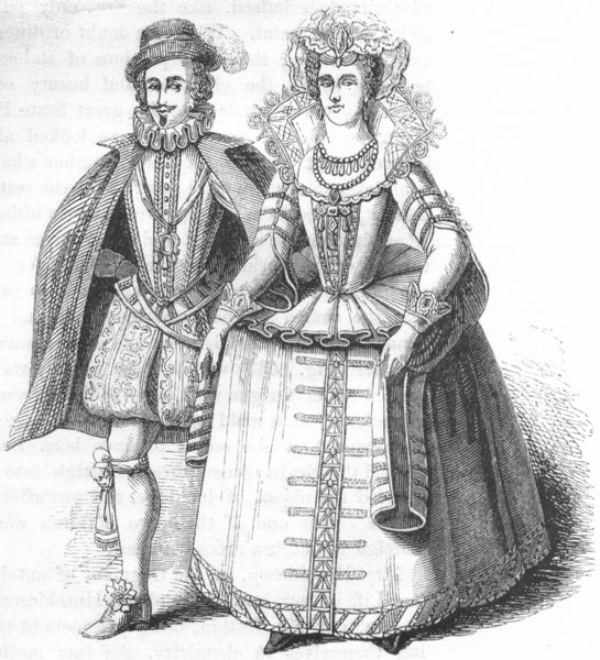 Associate Product SOMT. Earl & Countess  1845 old antique vintage print picture