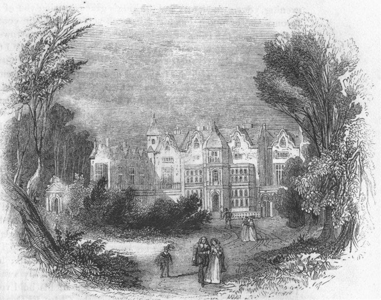 Associate Product LONDON. Holland House 1845 old antique vintage print picture