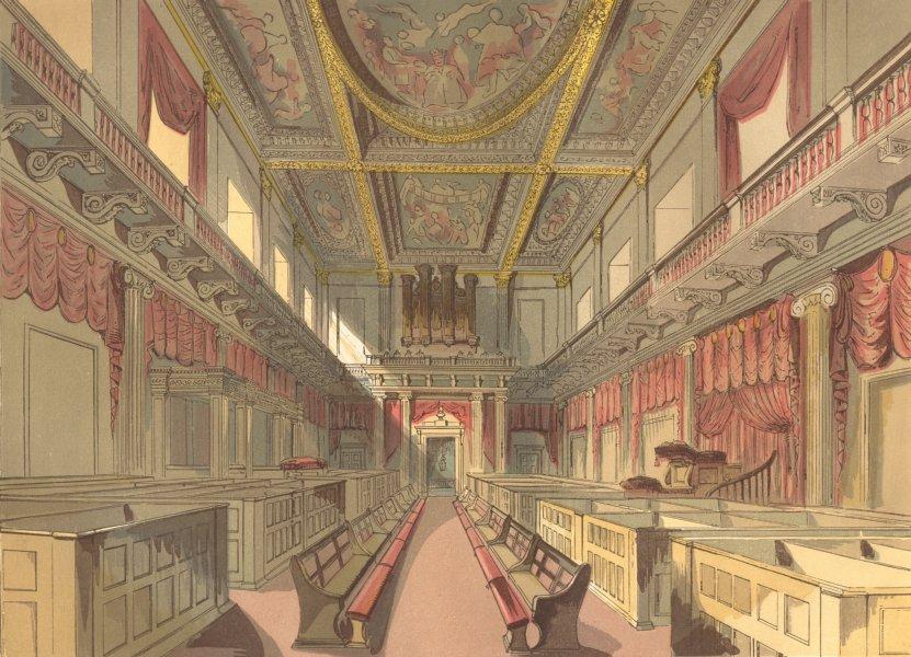 LONDON. Whitehall Chapel 1845 old antique vintage print picture