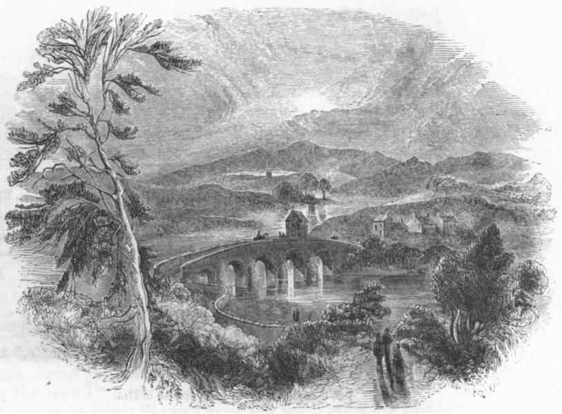 Associate Product SCOTLAND. Bothwell Bridge, Scottish defeat 1672 1845 old antique print picture
