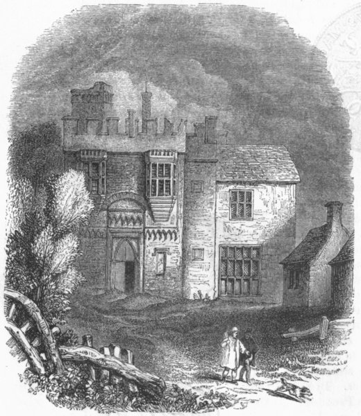 Associate Product BUILDINGS. The Rye-House 1845 old antique vintage print picture