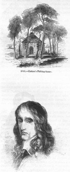 Associate Product FISHING. Cotton's House; Selden 1845 old antique vintage print picture
