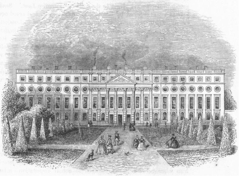 LONDON. Hampton Court Palace  1845 old antique vintage print picture