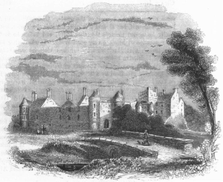 Associate Product BUILDINGS. Seaton house 1845 old antique vintage print picture