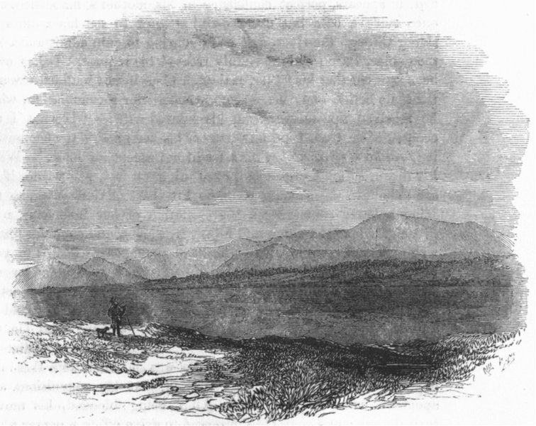 Associate Product SCOTLAND. Culloden, or Drummossie moor 1845 old antique vintage print picture
