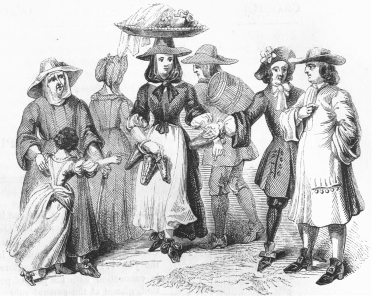Associate Product COSTUME. Of Commonalty, William & Mary 1689 1845 old antique print picture
