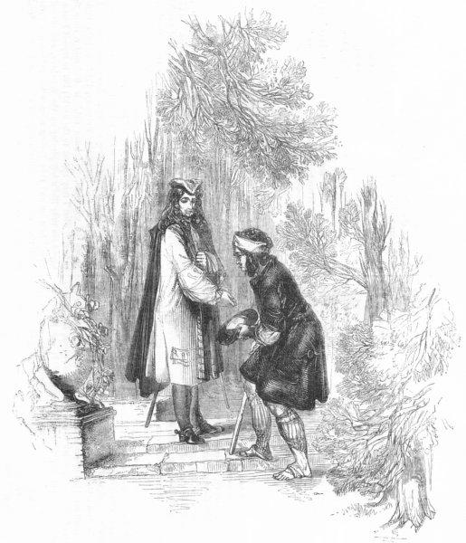 Associate Product PORTRAITS. Roger de Coverley & beggar 1845 old antique vintage print picture