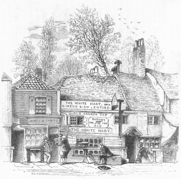 Associate Product LONDON. Watering House, Knightsbridge, in 1841 1845 old antique print picture