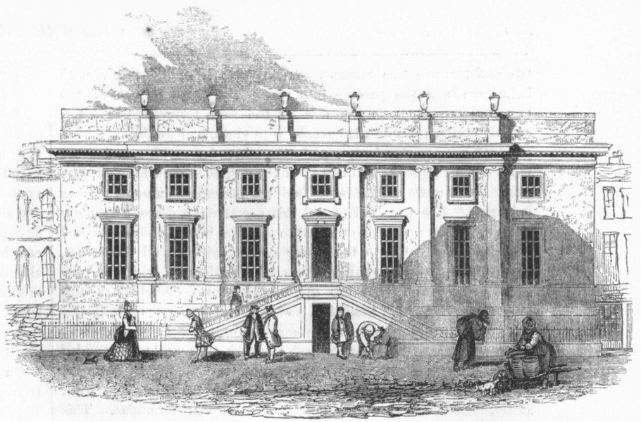 Associate Product LONDON. Surgeons Theatre, Old Bailey 1845 antique vintage print picture