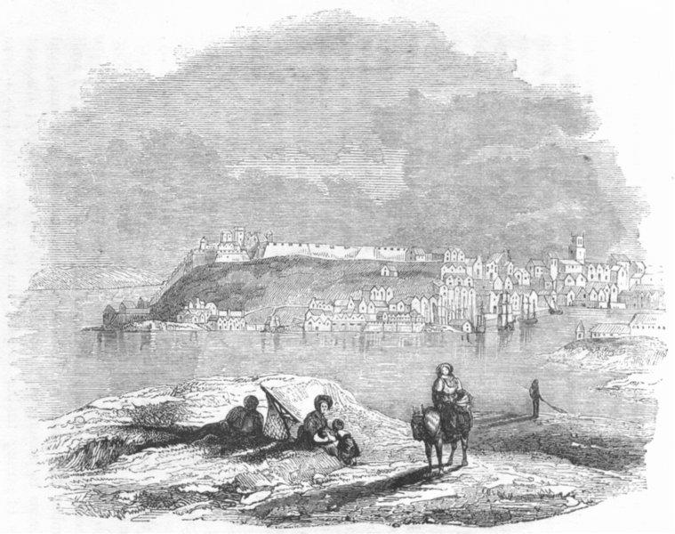 DEVON. Plymouth 1845 old antique vintage print picture