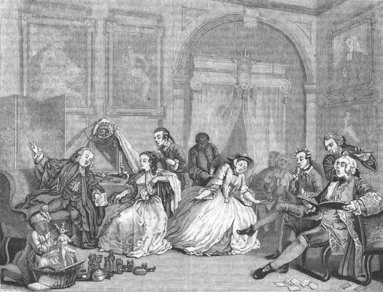 Associate Product ROMANCE. Wedding-la-Mode Concert 1845 old antique vintage print picture