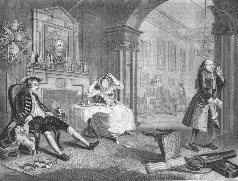 Associate Product ROMANCE. Wedding-la-Mode Saloon 1845 old antique vintage print picture