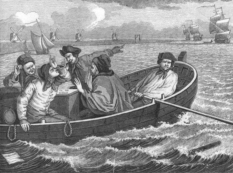Associate Product PORTRAITS. Idle Apprentice sent to Sea 1845 old antique vintage print picture