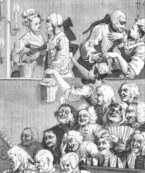 Associate Product SOCIETY. The laughing audience 1845 old antique vintage print picture