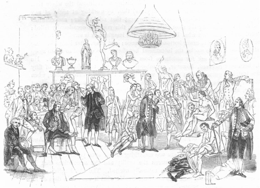 Associate Product SOCIETY. Zoffany's Royal Academicians, 1773 1845 old antique print picture
