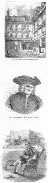 Associate Product GOLDSMITH, GREEN ARBOUR CT. & Capt Coram; Walpole 1845 antique print