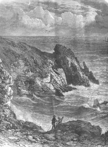 Associate Product DEVON. On the Coast of Devon, near Torquay 1893 old antique print picture