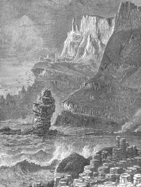 Associate Product ULSTER. The Giant's Chimney-tops, from the Giant's Causeway 1893 old print