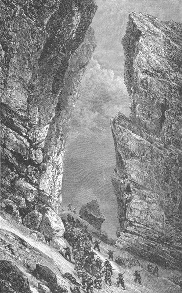 Associate Product HAUTES PYRENEES. The Breche de Roland, near the Cirque de Gavarnie, France 1893
