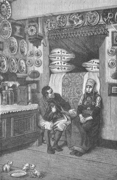 Associate Product NETHERLANDS. Dutch Interior, Marken island, Zuyder Zee (Zuiderzee) 1893 print