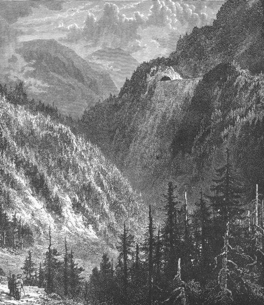 Associate Product GERMANY. Scene on the Black Forest Railway, near Villingen, Baden 1893 print