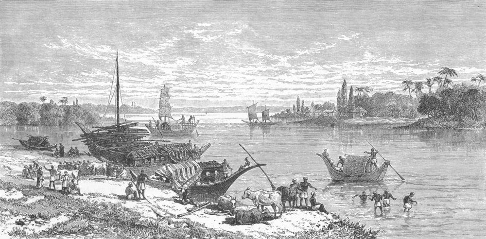 Associate Product Barrakpur/Barrackpore. Cantonment on the Hugli, near Calcutta Kolkata 1893