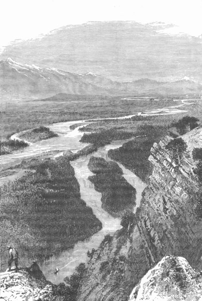Associate Product USA. Scene on the Yellowstone River. Montana Wyoming Dakota 1893 old print