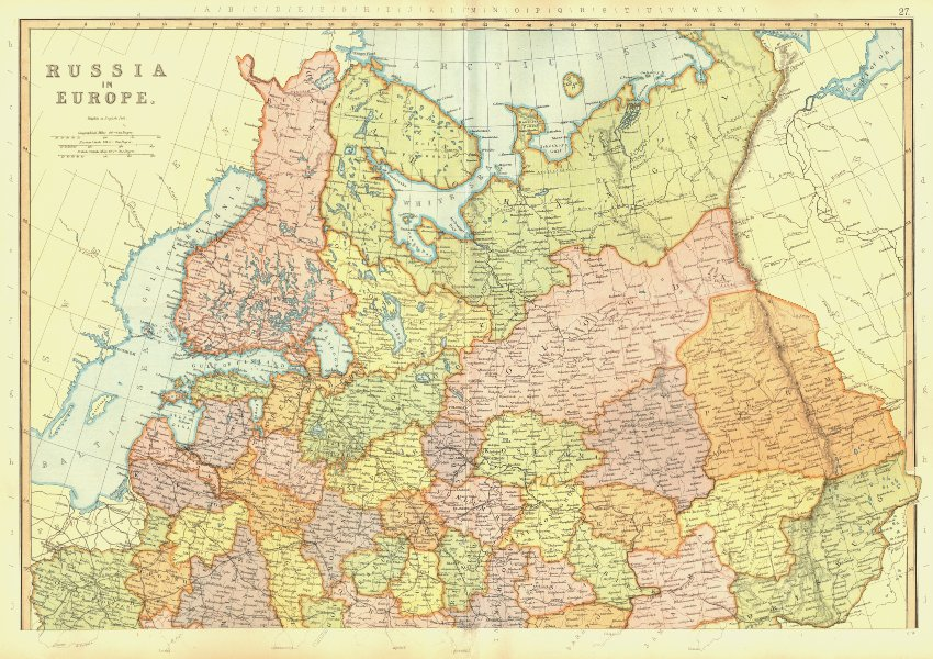 Associate Product EUROPEAN RUSSIA. Finland Latvia Baltics. Scale in Versts. BLACKIE 1893 old map