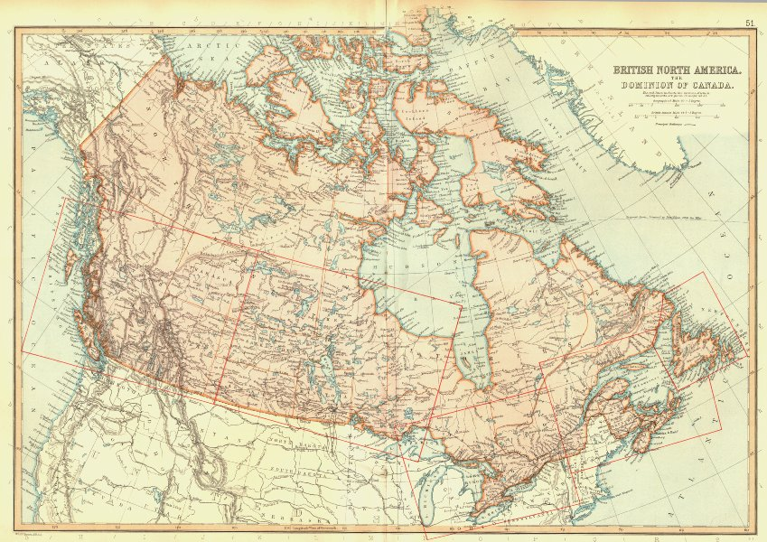 Associate Product CANADA. Dominion of; British North America. Railways. BLACKIE 1893 old map