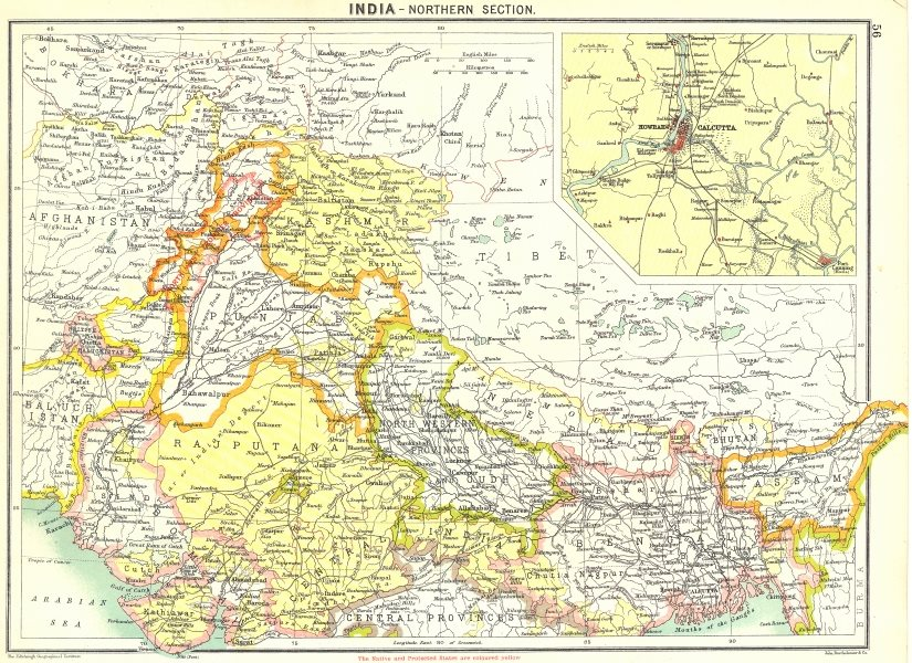 Associate Product INDIA. North; Howrah Kolkata 1900 old antique vintage map plan chart