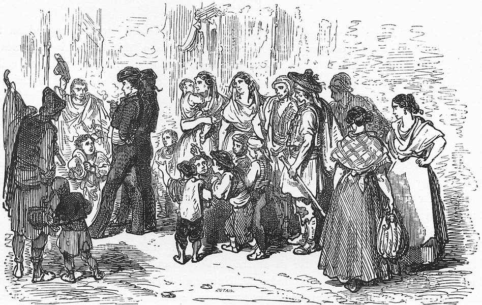 Associate Product SPAIN. Toreros in the Calle Zaragoza 1881 old antique vintage print picture