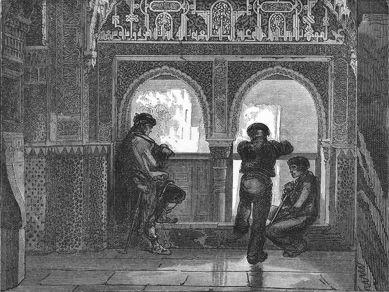 Associate Product SPAIN. The balcony of Lindaraja 1881 old antique vintage print picture