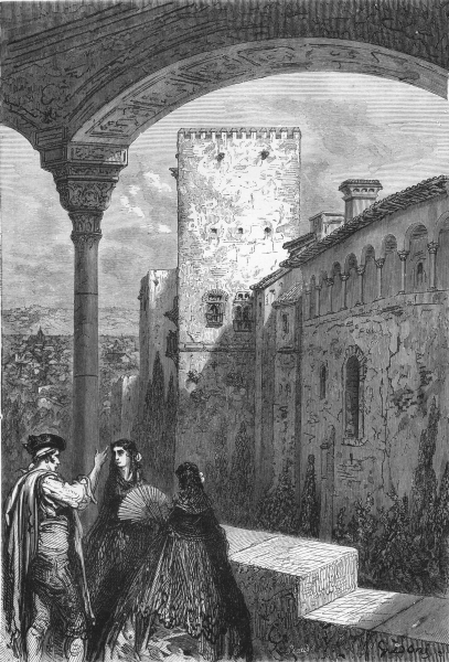 Associate Product SPAIN. The tower of Comares 1881 old antique vintage print picture