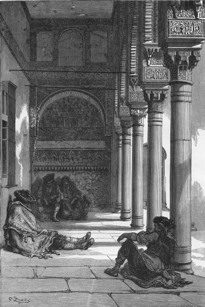 Associate Product SPAIN. Gallery of the Patio de Los Arrayanes 1881 old antique print picture