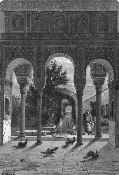 Associate Product SPAIN. The Generalife 1881 old antique vintage print picture