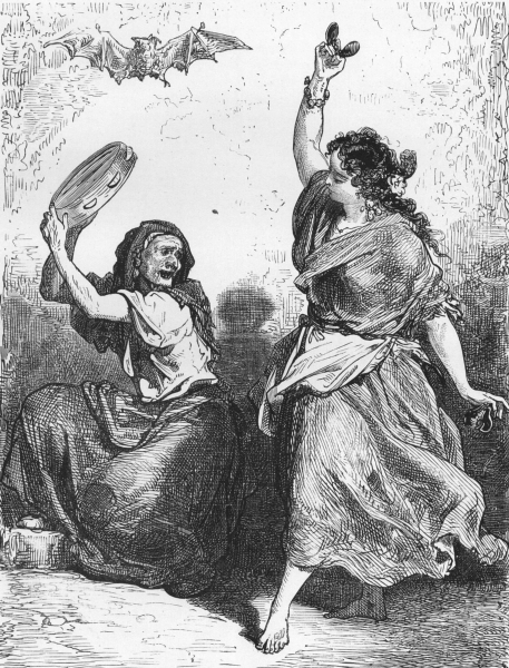 SPAIN. A Gipsy dancing the Zorongo 1881 old antique vintage print picture