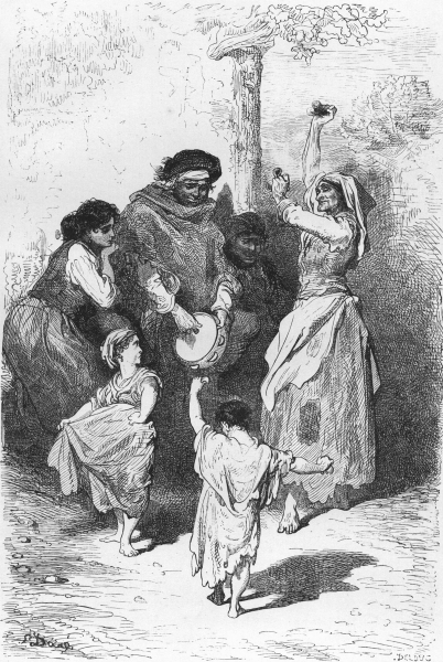 Associate Product SPAIN. Dance of Gipsy children at Sacro Monte 1881 old antique print picture