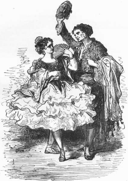 Associate Product SPAIN. Andalucian Dancers 1881 old antique vintage print picture
