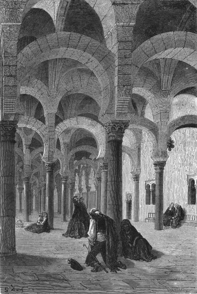 Associate Product SPAIN. Interior of the Mosque of Cordoba 1881 old antique print picture