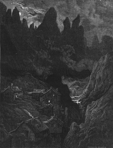 Associate Product SPAIN. The Sierra de Oca, near Miranda de Ebro 1881 old antique print picture