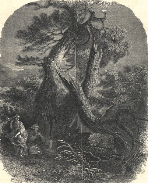 """Associate Product """"The death of the children of Niobe"""", by Wilson. Classics. Fine Arts 1844"""