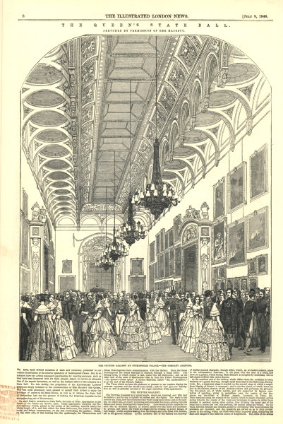 Associate Product Queen Victoria's State Ball: guests arriving at Buckingham Palace 1848