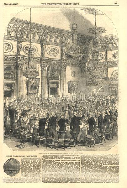 Associate Product Banquet for Sir Charles J. Napier, City of London Tavern, Bishopsgate 1849