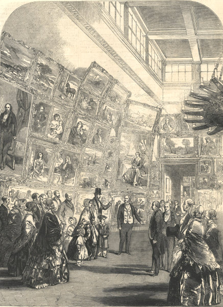 Associate Product Queen Victoria's visit to the Royal Academy Exhibition. London. Society 1849