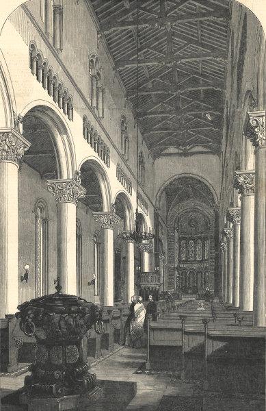 Associate Product Byzantine church of St Mary & St Nicholas, Wilton, Salisbury. Thomas Wyatt 1849