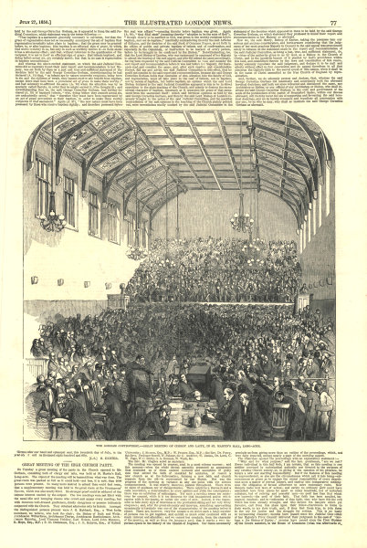 Associate Product Gorham controversy. Clergy & laity meeting at St. Martin's Hall, Long Acre 1850