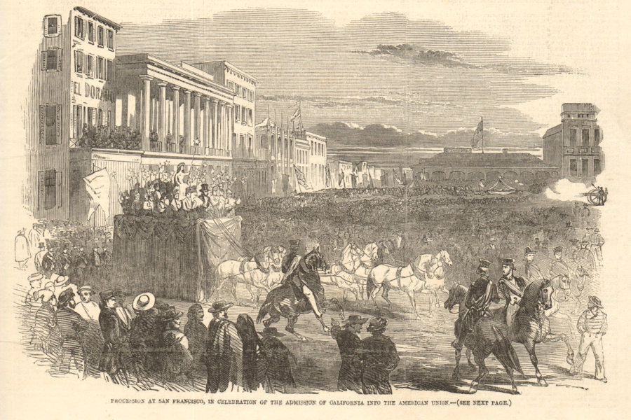 Associate Product San Francisco procession celebrating California's admission to the Union 1851